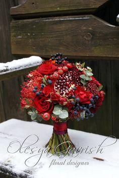 Олеся Гавриш - свадебная флористика и декор - Гранатовый букет