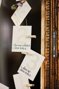 Neato! - Escort Cards , | CHECK OUT MORE IDEAS AT WEDDINGPINS.NET | #weddings #escortcards #weddingescortcards #coolideas #events #forweddings #ilovecards #romance #beauty #planners #cards #weddingdecorations