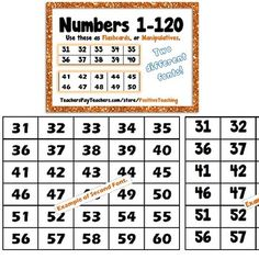 Numbers Kit - Math Resources Bundle by PositiveTeaching Number Grid, Number Chart, Math Resources, Learning Activities, Math Tools, Adding And Subtracting, Writing Practice, Elementary Education, High School Students