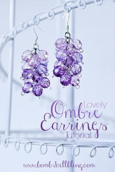 Crystal Ombre Earrings Tutorial - makes it seem simple enough for me to do it.  Just need practice with those wrapped loops.