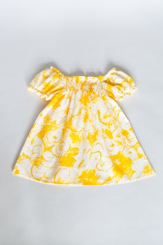 the Same blouse for Mom and child - Yellow la playa blouse - loose beach blous comfortable with variable neckline, children fashion  www.theSame.eu