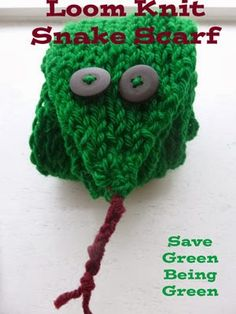 Save Green Being Green: Loom Knit Snake Scarf