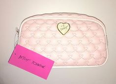 Authentic New BETSEY JOHNSON Pink Heart Travel Cosmetic Makeup Case Bag NWT  | eBay