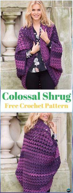 Lightweight + Easy Crochet Shrug – Free Pattern | Simple shapes ...