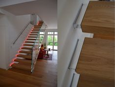 Innovatives Treppendesign von Siller Treppen Glass Stairs, Floating Stairs, Merida, Cantilever Stairs, Modern Architecture, Home Decor, Trendy Tree, Houses, Decoration Home