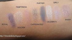 .elf Mineral Eyeshadow swatches