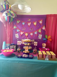 I created this Shopkins theme birthday table for Gabriella's party 8/15/15 Shopkins Birthday Party
