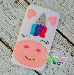Unicorn Phone Case ITH Embroidery Design