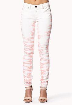 Life In Progress™ Tie-Dye Skinny Jeans at Forever 21!