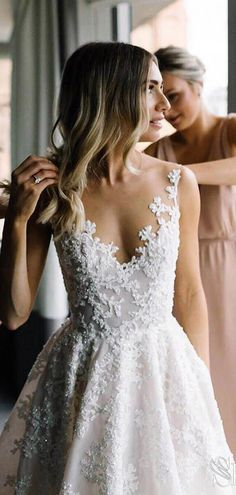 Vintage Lace Wedding Gowns See Through Illusion Neck Wedding Dresses - Ivory lace beach wedding dresses. : Vintage Lace Wedding Gowns See Through Illusion Neck Wedding Dresses - Ivory lace beach wedding dresses. Lace Beach Wedding Dress, Western Wedding Dresses, Applique Wedding Dress, Dream Wedding Dresses, Wedding Gowns, Beaded Wedding Dresses, Delicate Wedding Dress, Wedding Beach, Cheap Bridal Dresses