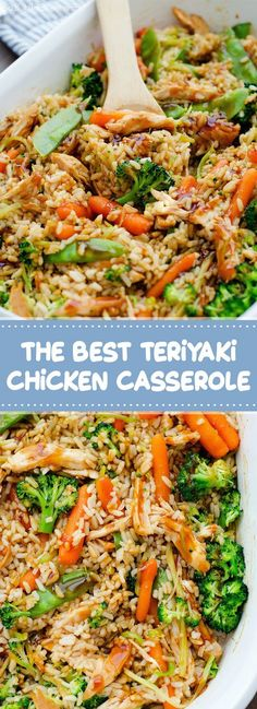 The Best Teriyaki Chicken Casserole - foodndrink. Chicken Teriyaki Rezept, Teriyaki Chicken Casserole, Teriyaki Chicken And Rice, Easy Chicken Casserole, Chicken Teryaki Recipe, Casserole Dishes, Casserole Recipes, Pollo Guisado, Best Casseroles