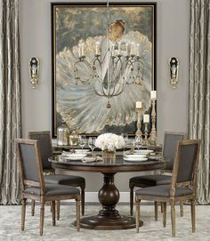 Refined Dining - The sophisticated bold and gold decor features ...