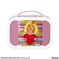 I AM girls pink lunch box. Lunch Box