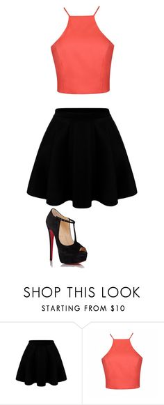 """night out"" by queird ❤ liked on Polyvore featuring Ally Fashion, Christian Louboutin, women's clothing, women, female, woman, misses and juniors"