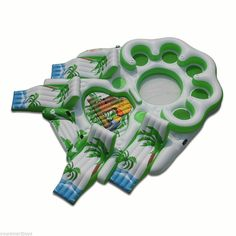 Inflatable Floats Tropical Tahiti Floating Party Island Pool Tube Water Sports #SunPleasure