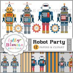 robot party activities - Google Search