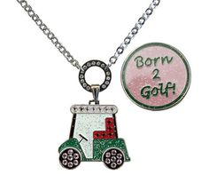 Navika Magnetic Ball Marker Necklace – Golf Cart & Born to Golf