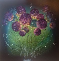 Leanne Christie flowerscapes, water lilies at The Art Agency Esher