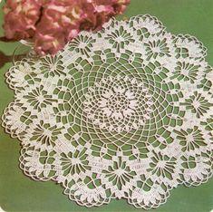 Doily Hortensia crochet scheme by eleanor Free Crochet Doily Patterns, Crochet Lace Edging, Crochet Flower Tutorial, Thread Crochet, Crochet Designs, Knit Crochet, Crochet Dollies, Crochet Stars, Lace Doilies