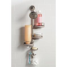 Adjustable shower caddy stainless steel anodized - Creative specialties bathroom accessories ...