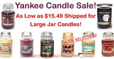 Wow! Don't you love Yankee Candles? Check out the HUGE Yankee Candle Sale! Today only! Grab Large Jar Candles for as low as $15.49 shipped! Go now!  Click the link below to get all of the details ► http://www.thecouponingcouple.com/yankee-candle-sale/ #Coupons #Couponing #CouponCommunity  Visit us at http://www.thecouponingcouple.com for more great posts!