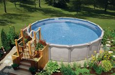 Above Ground Pools Decks Idea | of Above Ground Pools with Decks: Coolest Decoration Ideas For Above ...