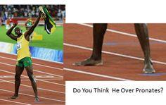 Usain Bolt's foot anlysis