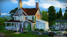 Flower dream house by Julia Engel at Frau Engel via Sims 4 Updates