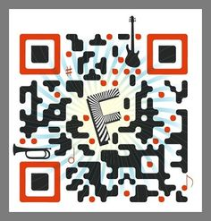 Each of these twenty inspired designs is a great example of QR code creativity. The design of these QR codes allows a brand to appear in what is normally a Code Art, Instructional Technology, Creating A Business, Silver Spring, Marketing, Cool Designs, Illustration Art, Geek Stuff, Design Inspiration