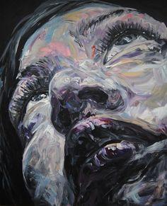 Fred Calmets. Face 006, 2011. Acrylic on canvas, 130 x 162 cm. http://www.fredcalmets.com/