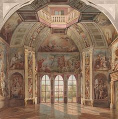 Tieleman Cato Bruining | Interior of the Oranjezaal, Huis Ten Bosch | The Morgan Library & Museum