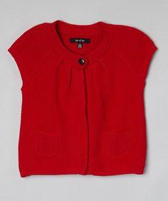 Loving this Red Knit Shrug - Toddler & Girls on #zulily! #zulilyfinds