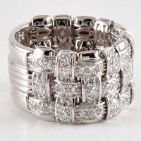 Roberto Coin 639044AWLRDD Appassionata collection 18kt white gold diamond ring 1.64tcw