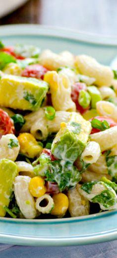Summertime Pasta Salad with Greek Yogurt Dressing Recipe