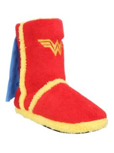 DC Comics Wonder Woman Slipper Boots It has a cape!