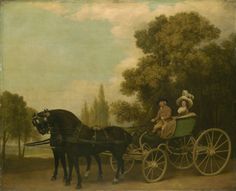 George Stubbs: 'A Gentleman driving a Lady in a Phaeton', 1787.