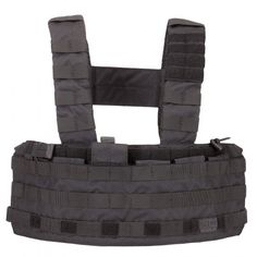 Purpose BuiltThe TacTec Tactical Chest Rig from 5.11 Tactical provides a sturdy and reliable foundation for your tactical kit, and can be worn H-Frame or Rhodesian (x-back) style. Six easy to reach front facing compartments can be configured for your chosen storage, twin outside compartments can be used for accessories or as hydration slots, and a rear admin pocket provides quick access to maps or documents. Lightweight, durable construction ensures our chest rig provides full range of ...