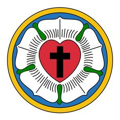 The Luther Seal or Rose is a widely-recognized symbol for Lutheranism. Designed for Martin Luther at the behest of Prince John Frederick in 1530, Luther saw it as a compendium or expression of his theology and faith, which he used to authorize his correspondence. Full description: http://en.wikipedia.org/wiki/Luther_rose