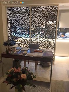 Laser cut screens - Room divider - Tiger Leaf design by Miles and Lincoln. www.milesandlincoln.com