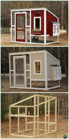 Chicken Coop - DIY Custom Chicken Coop Free Plan Instructions - DIY Wood Chicken Coop Free Plans Building a chicken coop does not have to be tricky nor does it have to set you back a ton of scratch. Chicken Coop On Wheels, Walk In Chicken Coop, Chicken Coop Pallets, Mobile Chicken Coop, Chicken Barn, Easy Chicken Coop, Diy Chicken Coop Plans, Portable Chicken Coop, Backyard Chicken Coops