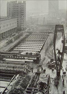 Metrobouw op de Coolsingel.