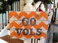 Go Vols pallet sign door hanger by NCRDesign on Etsy, $35.00
