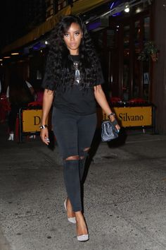 Angela Simmons at Da Silvano in NYC