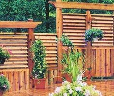 Adjustable Privacy Slats In A Deck Outside Pinterest