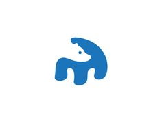 This potential logo uses several effective techniques in its design including negative space, which is perhaps the most obvious. The use of negative space makes it look as though the bear is looking over its shoulder. Also, the blue and white color scheme brings to mind the colors associated with polar bears. Overall, this is a colorfully pleasing, simple piece of design. Lots of creativity was used!