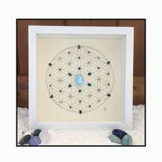 Rejillas de cristal-cristal arte geométrico patrón sagrado