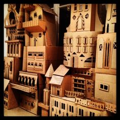 Cardboard castles at L'Eclaireur in the Marais...