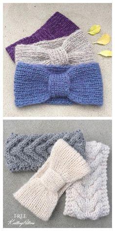 Crochet Baby Cardigan Free Pattern, Knit Headband Pattern, Crochet Patterns Amigurumi, Baby Knitting Patterns, Free Knitting, Knit Crochet, Start Knitting, Crochet Basics, Knitting For Beginners