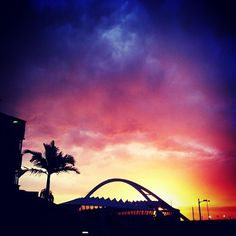 Durban Sunset via Ssj Durban South Africa, Kwazulu Natal, Sydney Harbour Bridge, Study Abroad, Homeland, 6 Years, Tourism, Sunrise, Beautiful Places