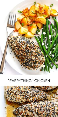 Kick your baked chicken up a major notch with some delicious everything bagel seasoning!  So simple and SO flavorful! #easyrecipes #dinner #chickenrecipes #food #cooking #chicken #easy #recipes Easy Chicken Recipes, Easy Recipes, Easy Meals, Everything Bagel, Baked Chicken, Salmon Burgers, Dinner, Cooking, Simple